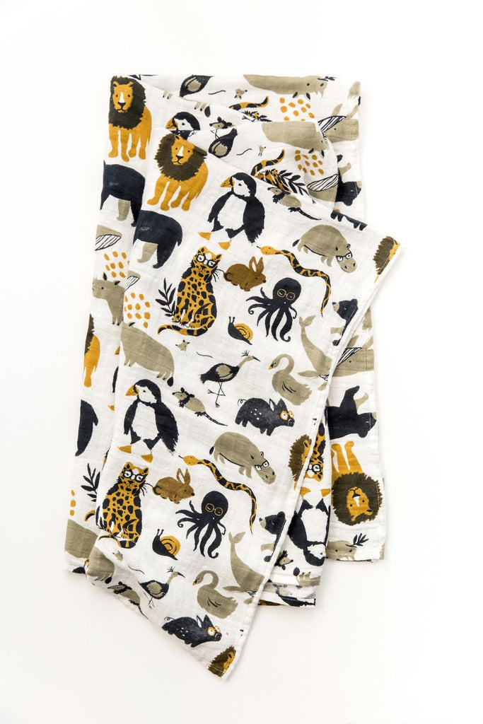 Zoology Swaddle by Clementine Kids