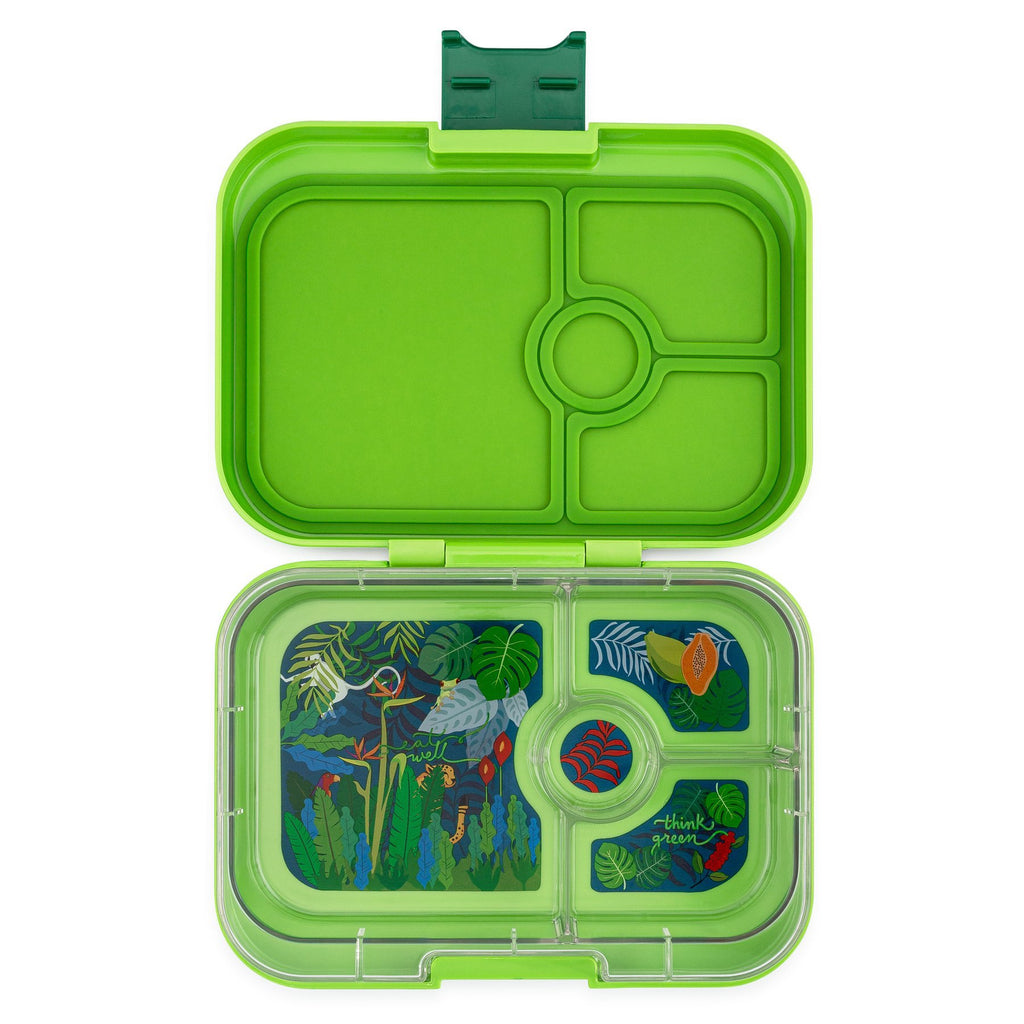 Yumbox Panino Leakproof Bento Box - 4 Compartment - Congo Green