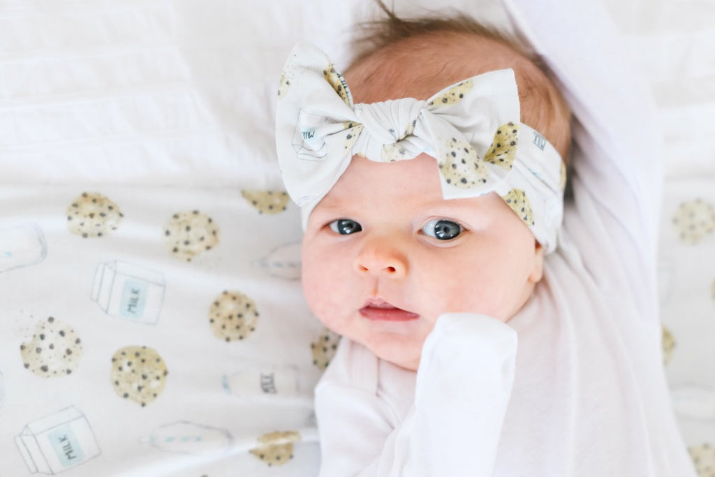 Newborn Knit Headband Bow - Chip by Copper Pearl