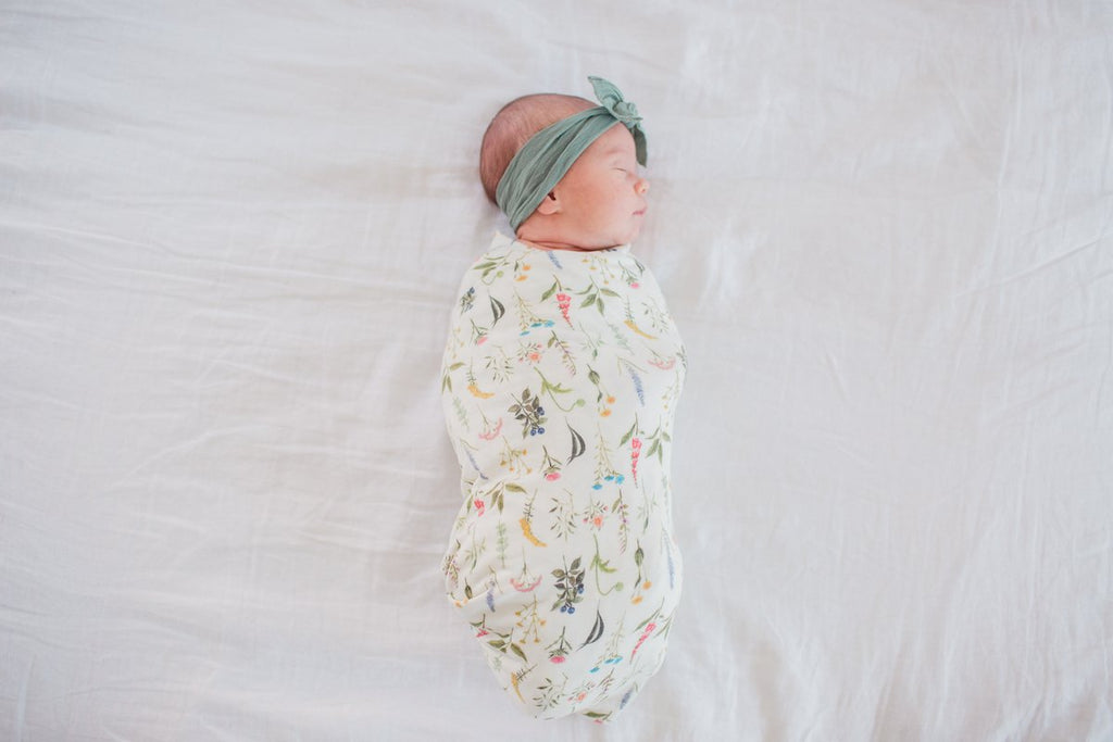 Knit Swaddle Blanket - Aspen by Copper Pearl Copper Pearl Bedding