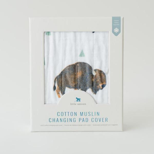 Cotton Changing Pad Cover - Bison by Little Unicorn