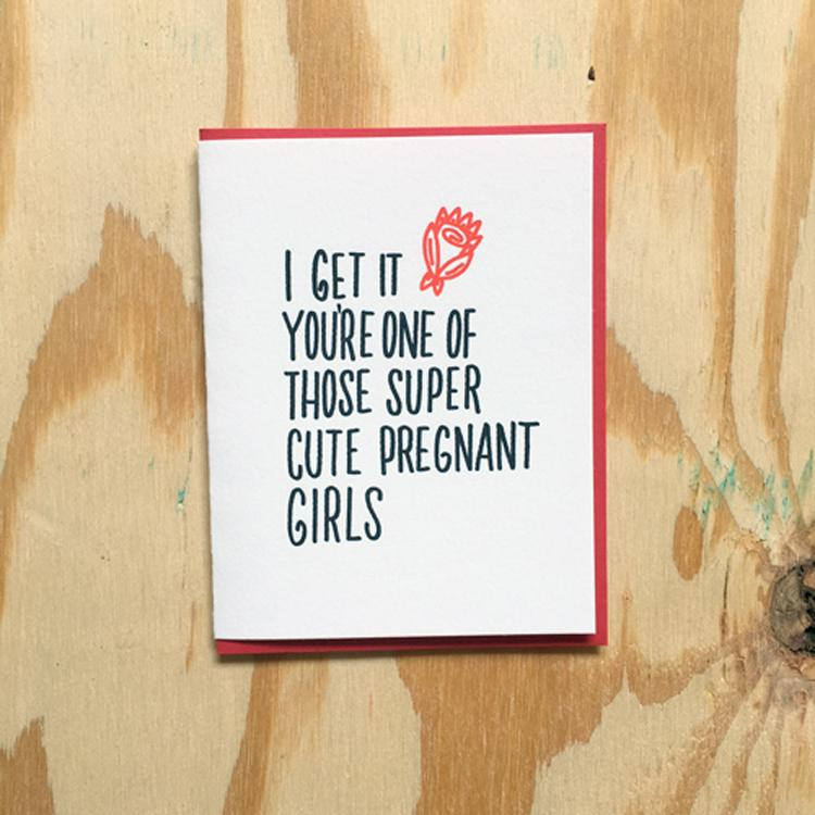 Cute Pregnant Card by Bench Pressed