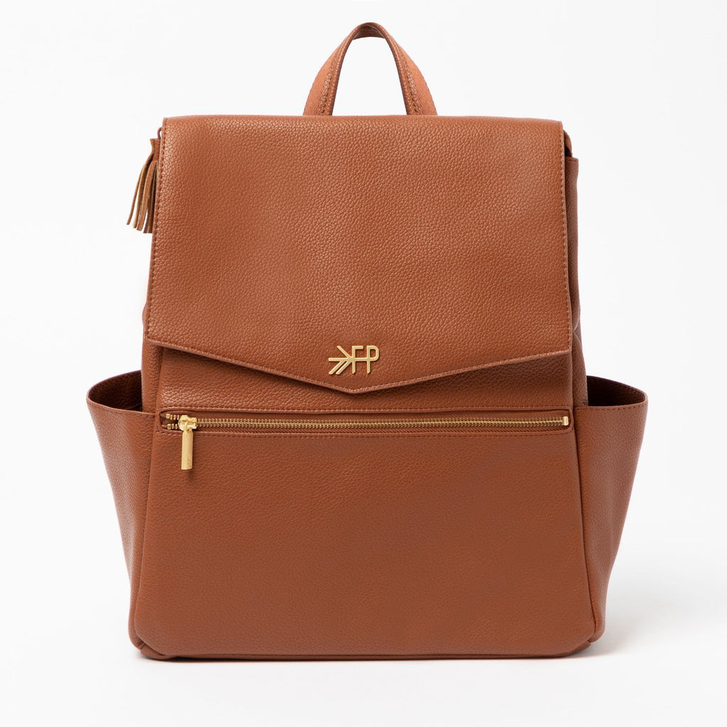 Cognac Diaper Bag by Freshly Picked