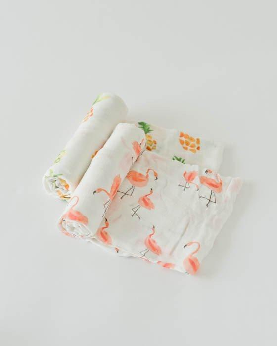 Deluxe Bamboo Swaddle 2-Pack - Pink Ladies by Little Unicorn