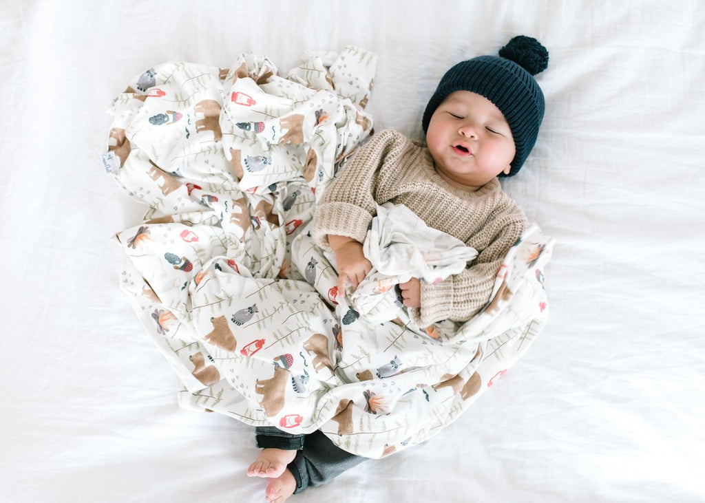 Knit Swaddle Blanket - Lumberjack by Copper Pearl