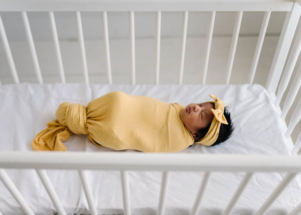 Knit Swaddle Blanket - Marigold by Copper Pearl