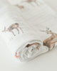 Cotton Muslin Single Swaddle - Oh Deer by Little Unicorn - Pacifier
