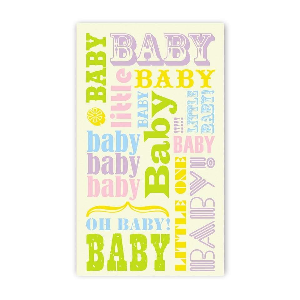 Baby Words Enclosure Card