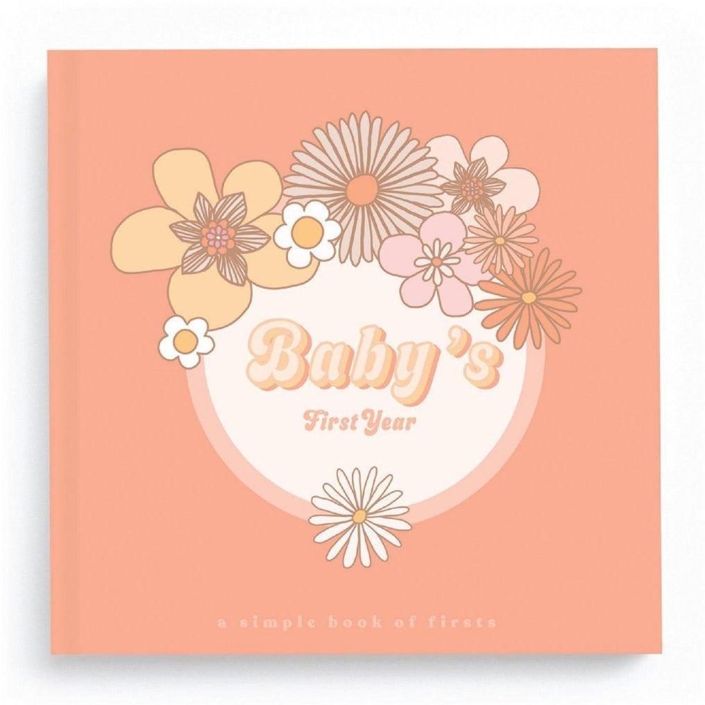 Flower Child Baby Memory Book by Lucy Darling