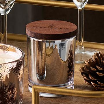 Frasier Fir Poured Statement Candle Silver - 5.0 oz