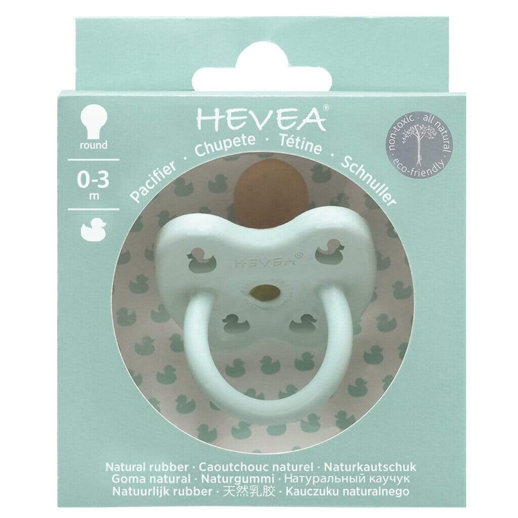 Duck Round Natural Rubber Pacifier - Mellow Mint by Hevea Hevea Infant Care