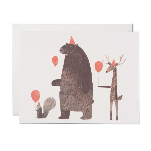 Party Animals Card Red Cap Cards Paper Goods