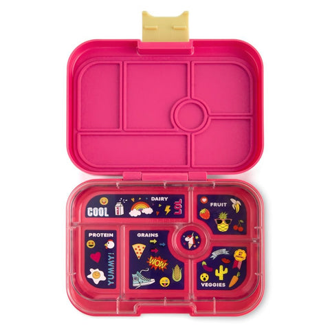 Yumbox Leakproof Bento Box - 6 Compartment - Kawaii Pink
