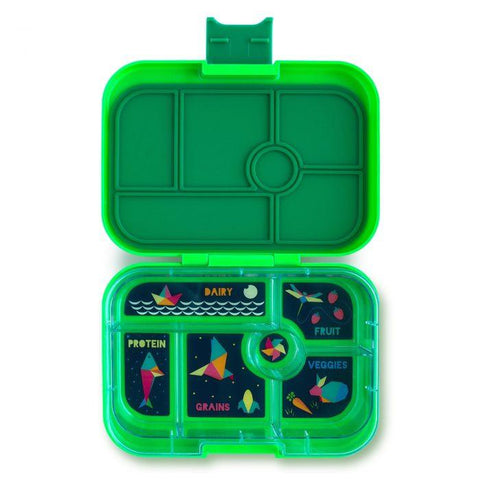 Yumbox Original Leakproof Bento Box - 6 Compartment - Kerry Green - Pacifier