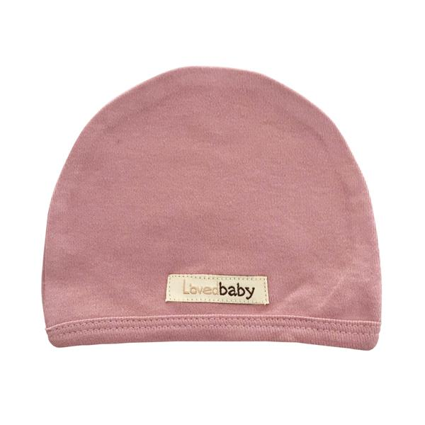 Organic Cute Cap - Mauve by Loved Baby