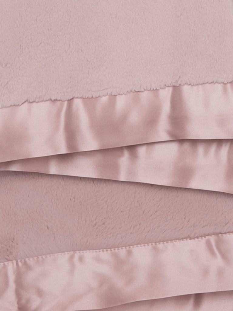 Luxe Solid Baby Blanket - Dusty Rose by Little Giraffe