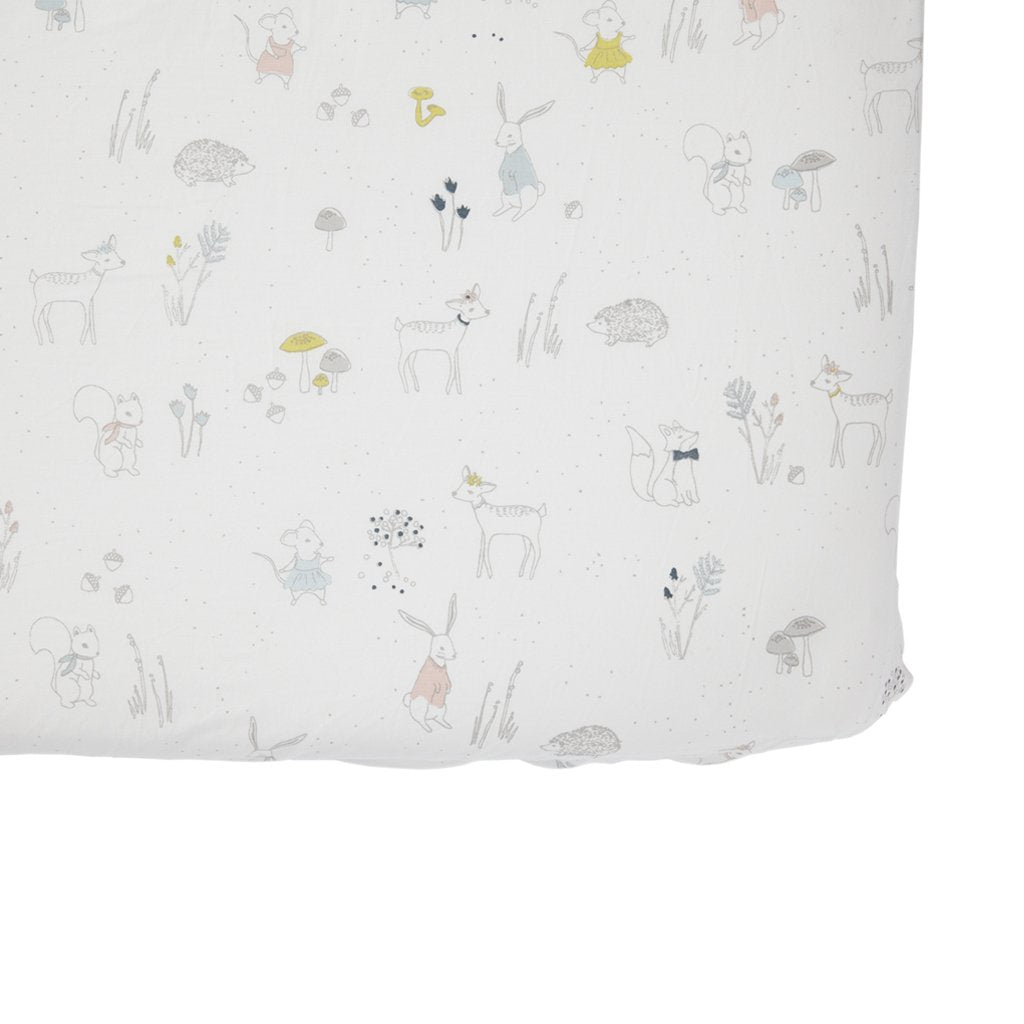 Organic Magical Forest Crib Sheet by Pehr Pehr Bedding