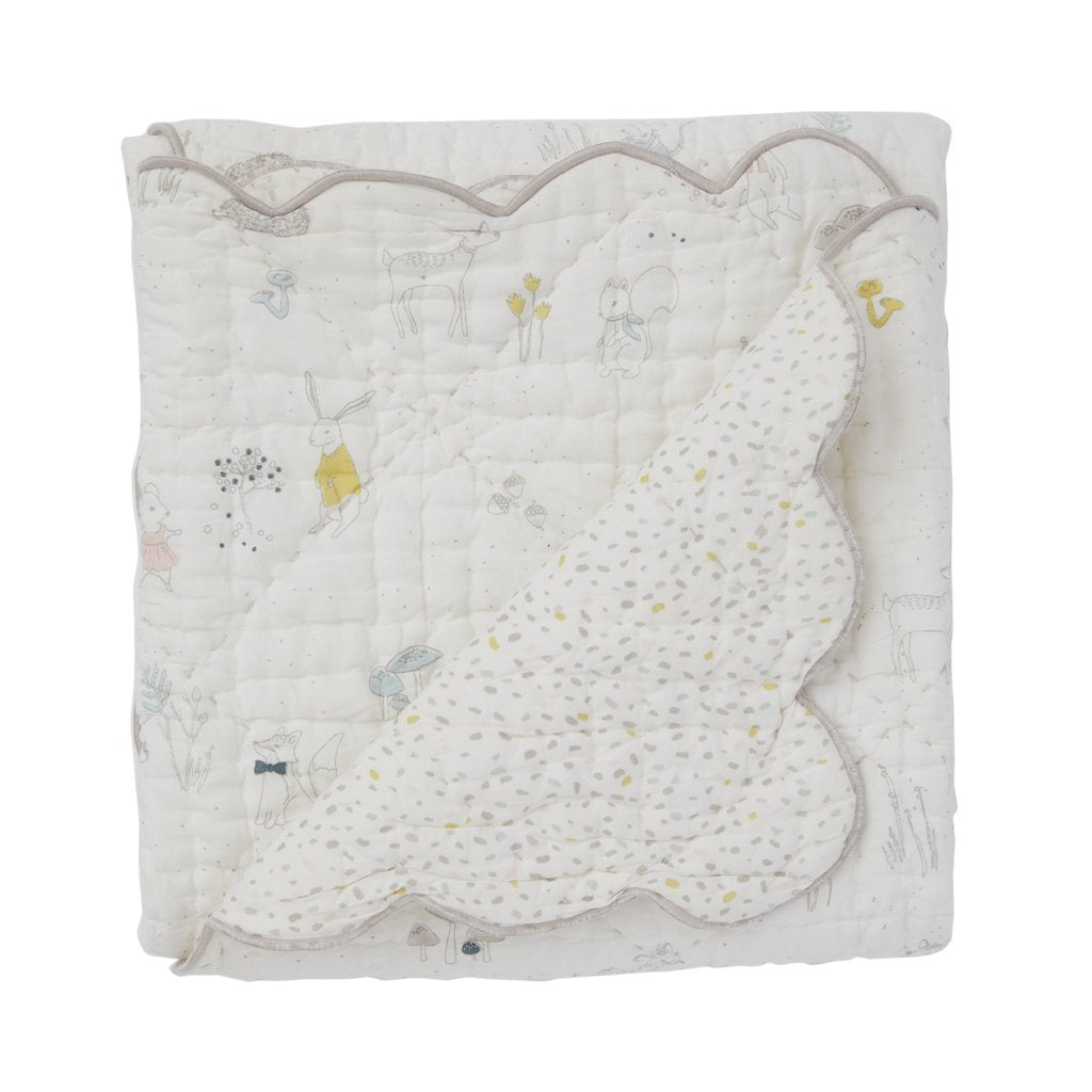 Magical Forest Scalloped Blanket by Pehr Pehr Bedding