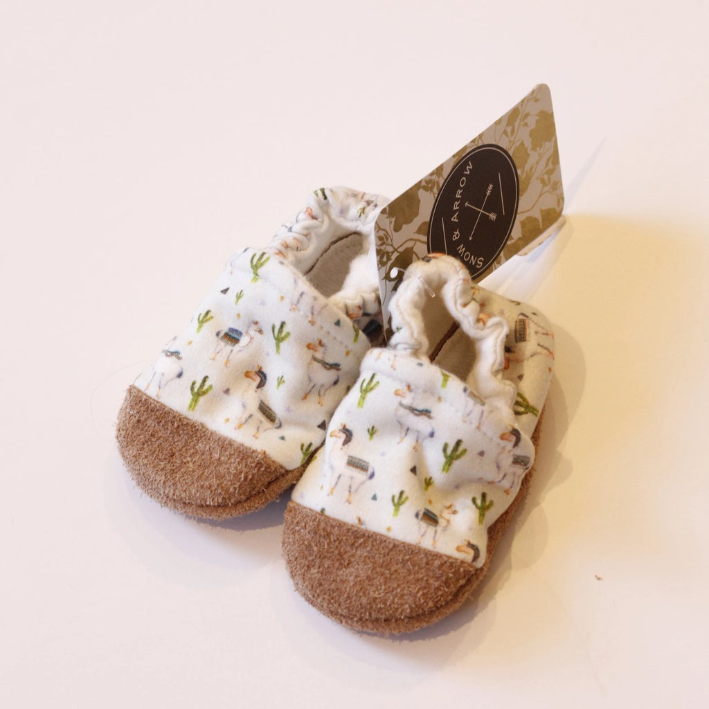 Organic Cotton Slipper - Llamas Small Scale by Snow & Arrow Snow & Arrow Shoes