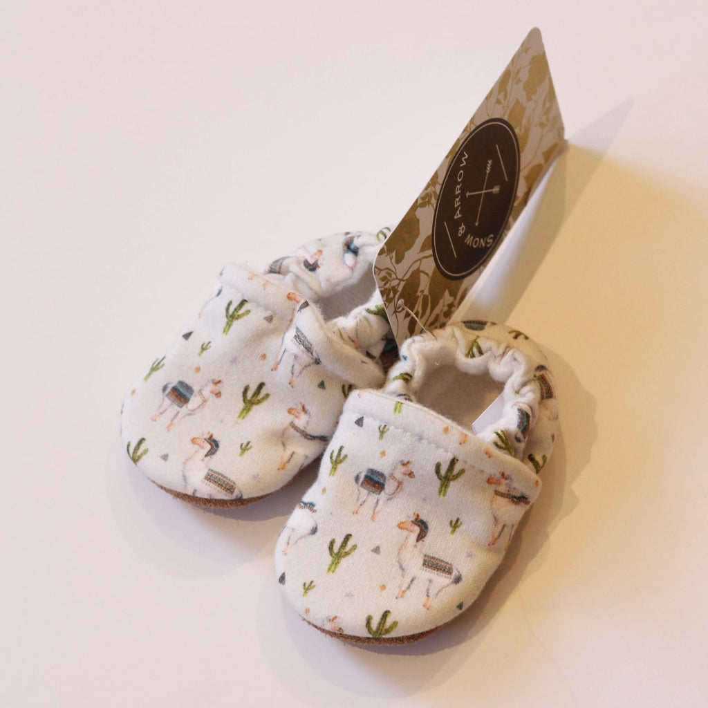 Organic Cotton Slipper - Llamas Small Scale by Snow & Arrow