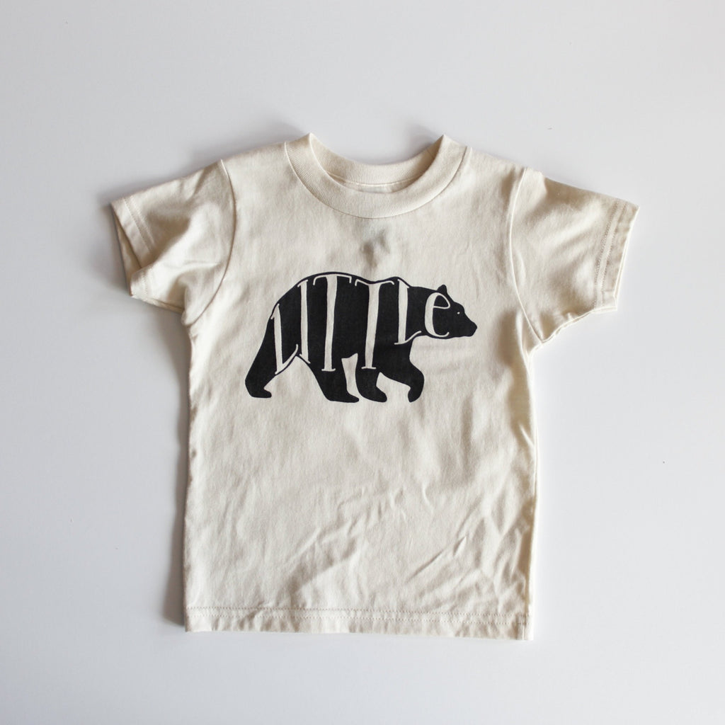 Organic Little Bear Toddler Tee - Natural by Gladfolk
