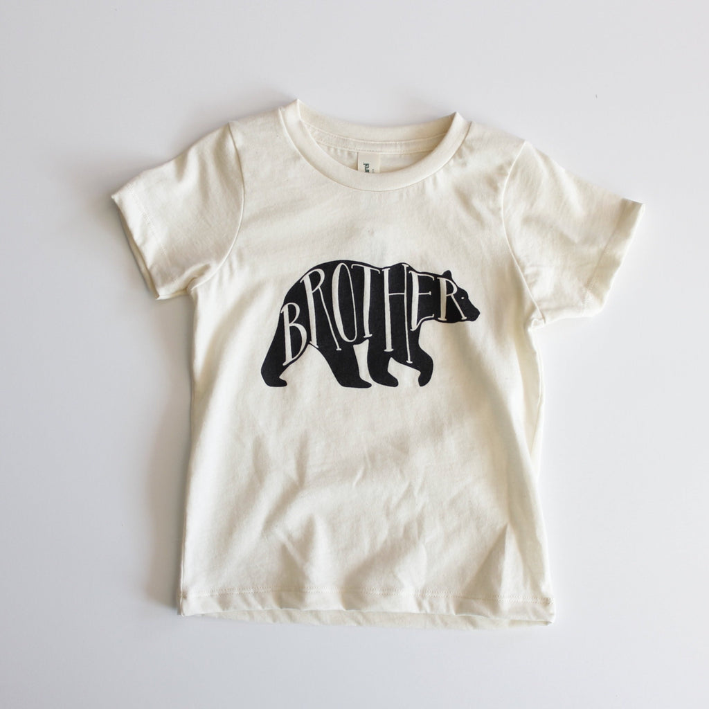 Organic Brother Bear Toddler Tee - Natural by Gladfolk