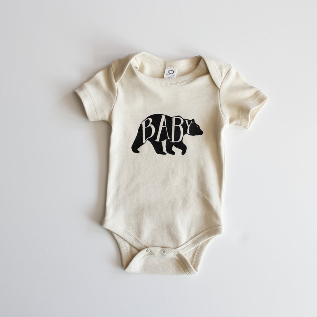 Organic Baby Bear Bodysuit - Natural by Gladfolk