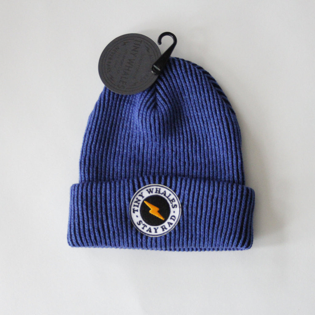 Stay Rad Beanie - Royal Blue by Tiny Whales