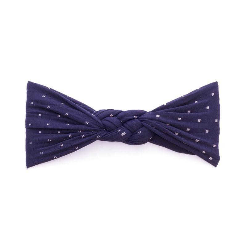 Sailor Knot Headband - Navy Dot by Baby Bling