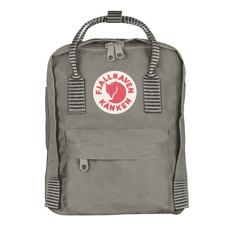 Kånken Mini Backpack - Fog Striped by Fjallraven
