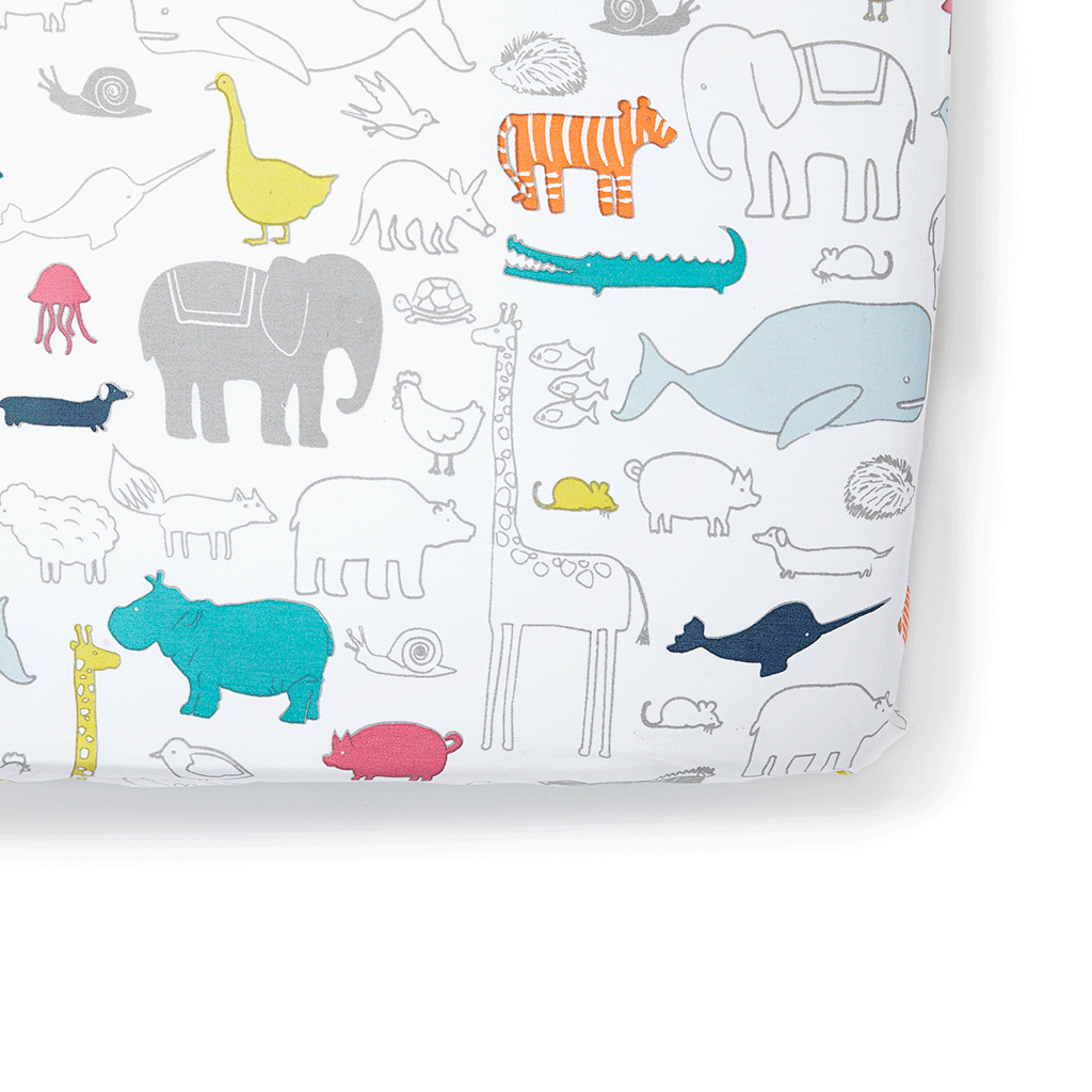 Organic Noah's Ark Crib Sheet by Pehr