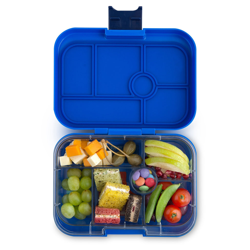 Yumbox Leakproof Bento Box - 6 Compartment - Neptune Blue YumBox Nursing + Feeding