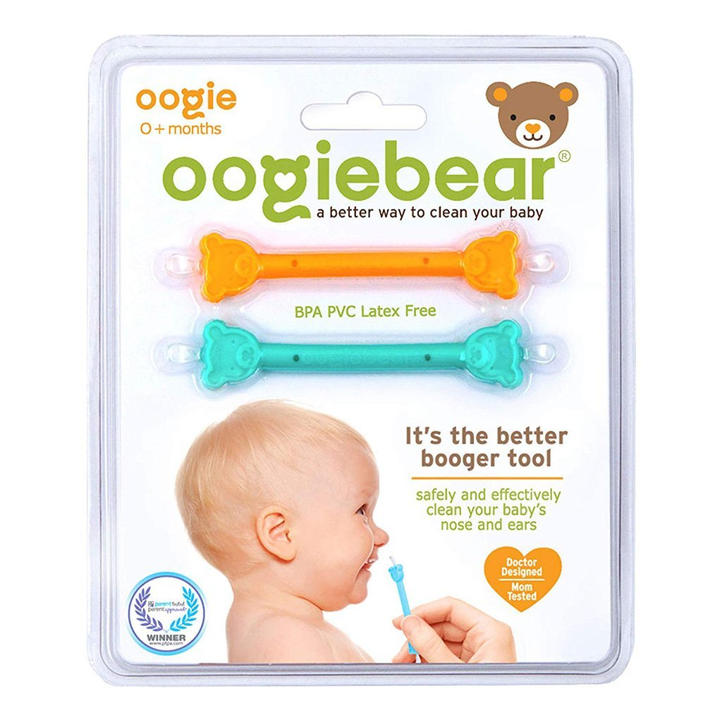 Oogiebear Booger + Ear Tool - 2pk Orange