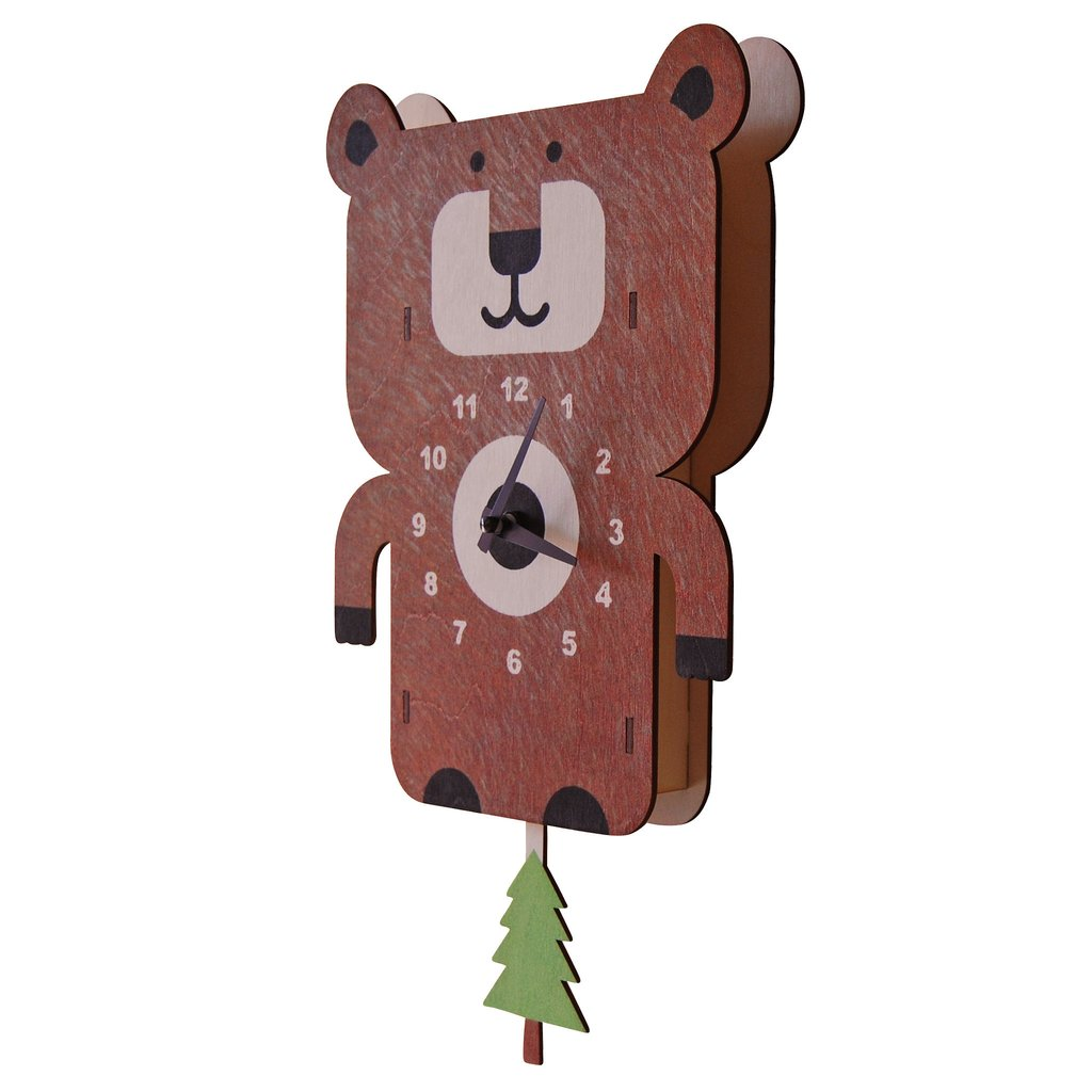 Bear Pendulum Clock by Modern Moose