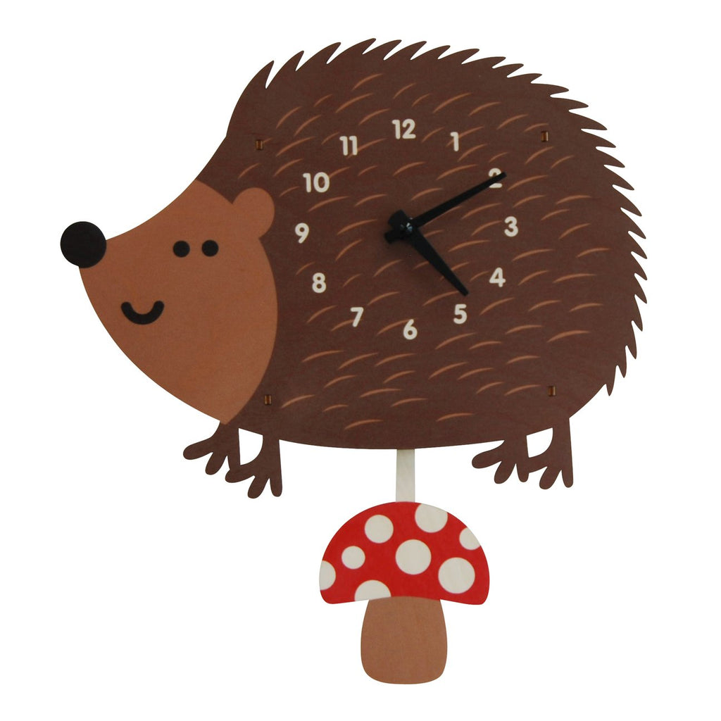 Hedgehog Pendulum Clock by Modern Moose Modern Moose Decor