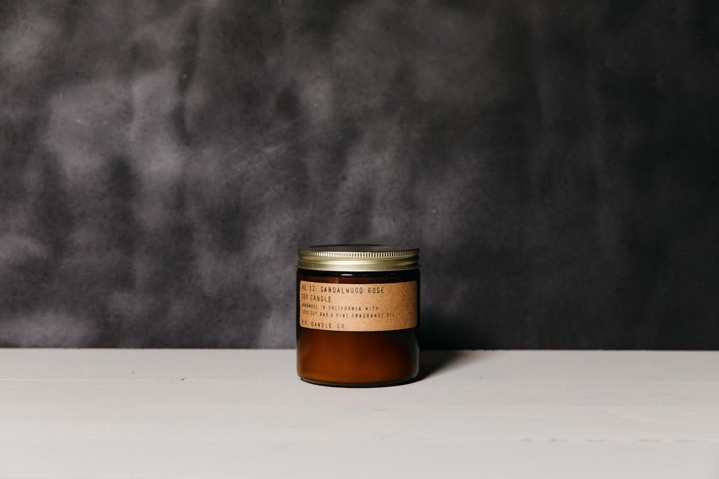 Sandalwood Rose Soy Candle - Large by PF Candle Co PF Candle Co Decor