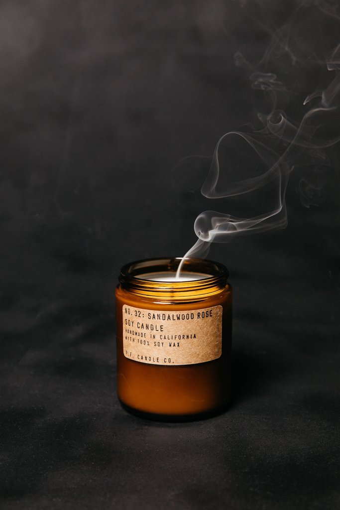 Sandalwood Rose Soy Candle - Standard by PF Candle Co PF Candle Co Decor