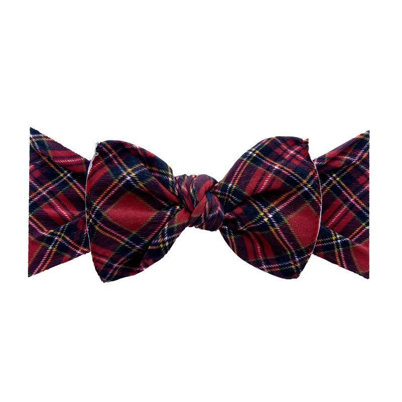 Printed Knot Headband - Red Tartan by Baby Bling