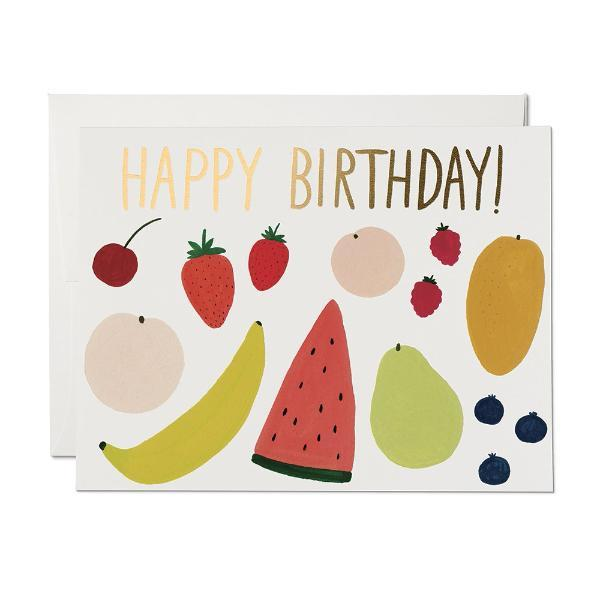 Fruits Birthday Card Red Cap Cards Paper Goods