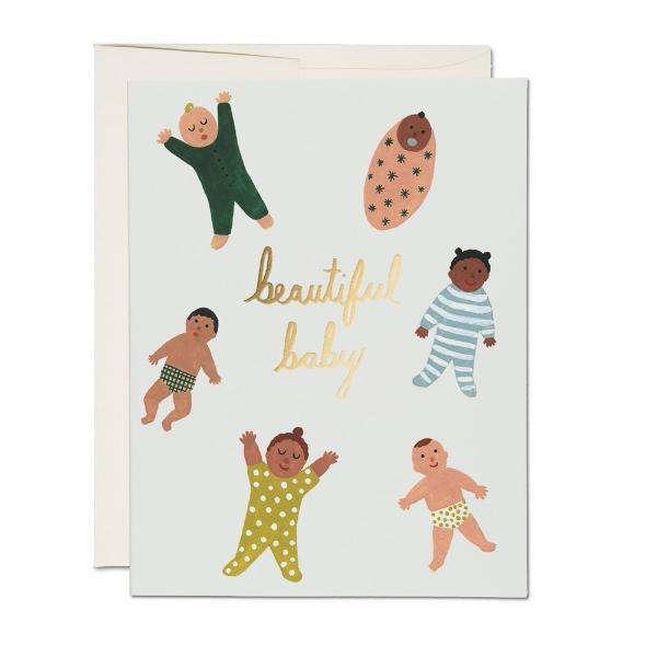 Beautiful Baby Card Red Cap Cards Paper Goods