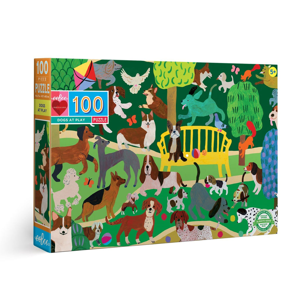 100 Piece Puzzle - Dogs at Play by Eeboo
