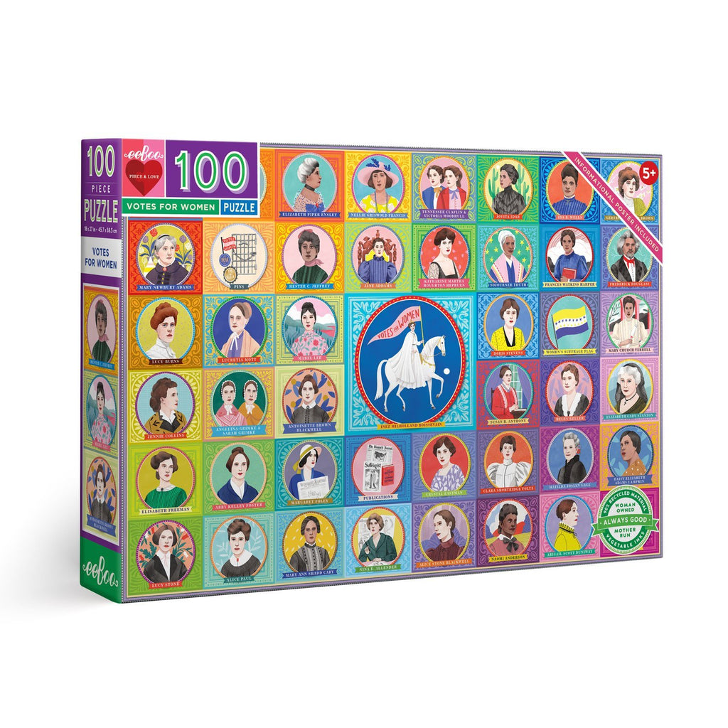 100 Piece Puzzle - Votes for Women by Eeboo