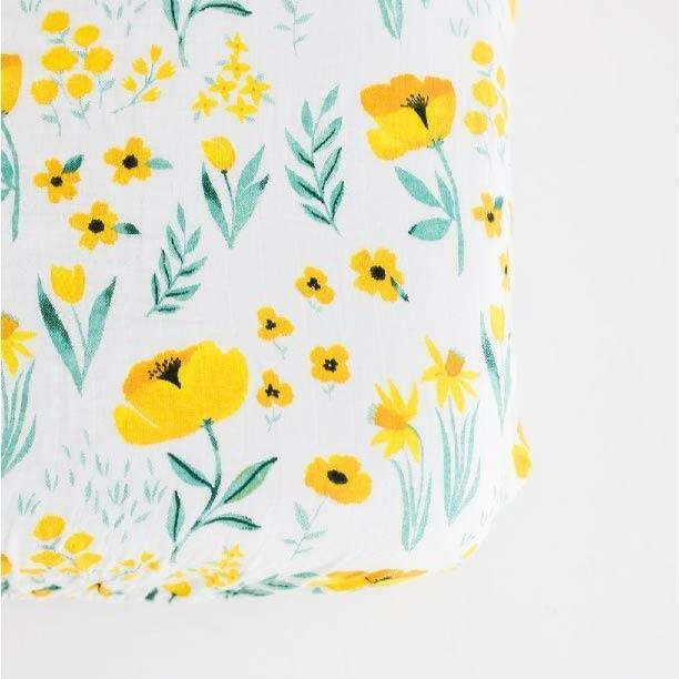 Cotton Muslin Crib Sheet - Buttercup Blossom by Clementine Kids