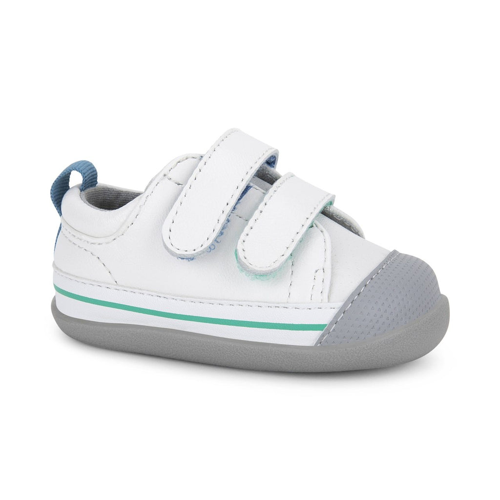 Waylon Infant Shoe - White Leather by See Kai Run