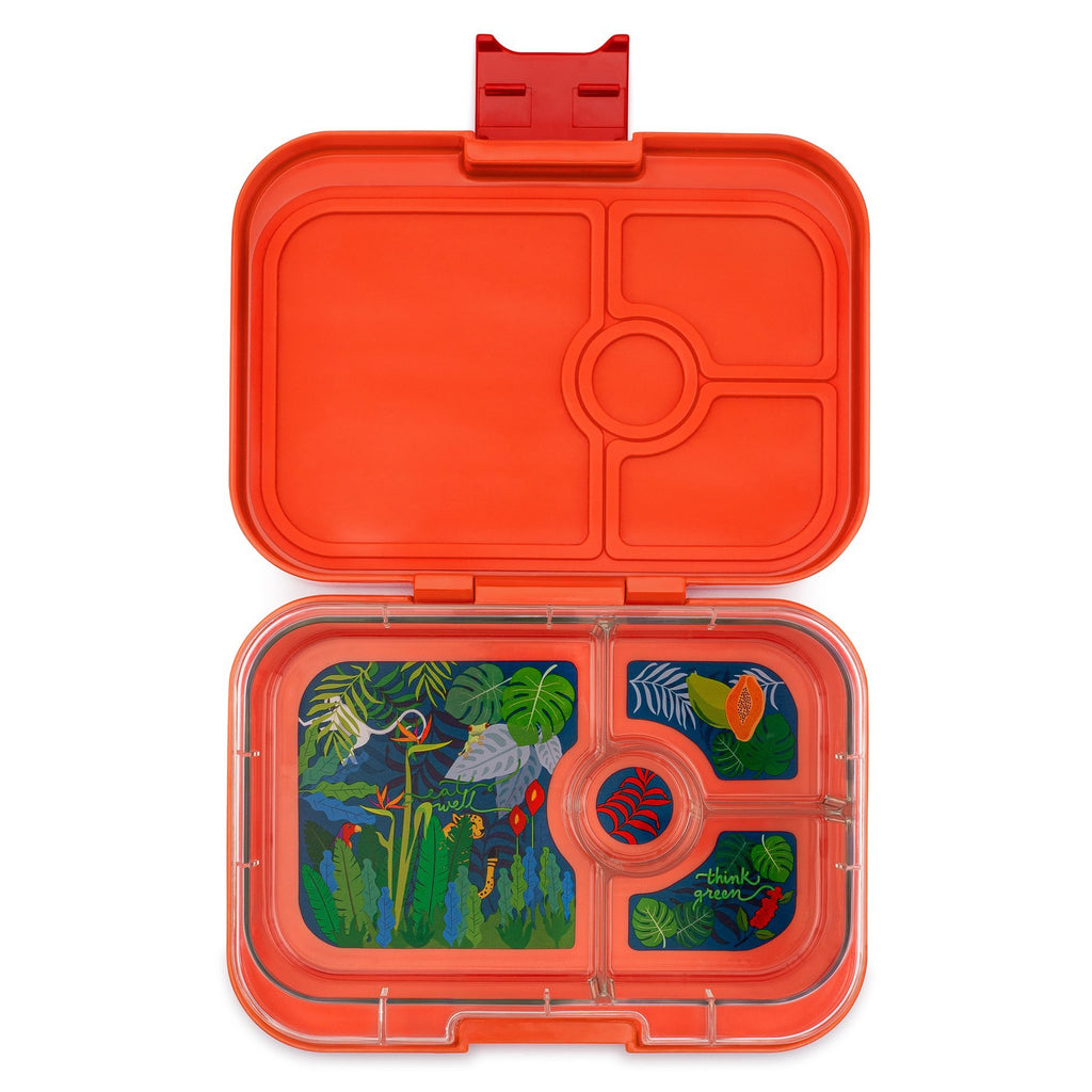 Yumbox Panino Leakproof Bento Box - 4 Compartment - Safari Orange