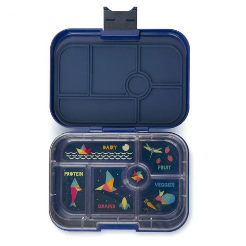 Yumbox Original Leakproof Bento Box - 6 Compartment - Santa Fe Blue - Pacifier