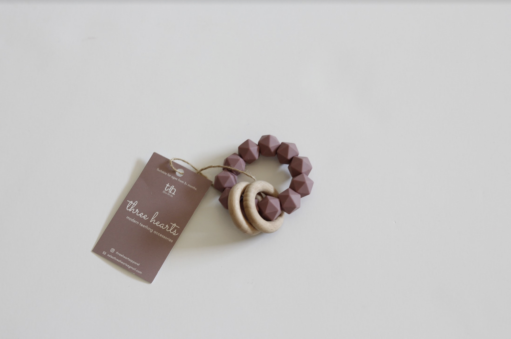 Abby Teething Rattle by Three Hearts Three Hearts Toys