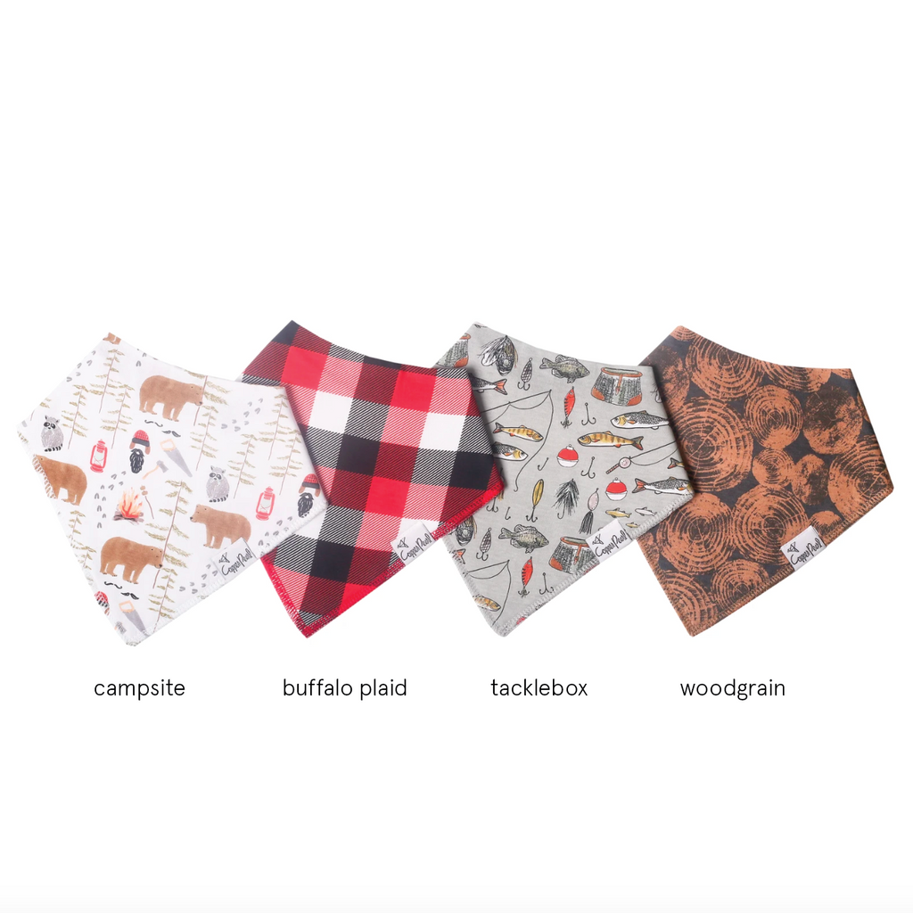 Single Bandana Bib - Lumberjack by Copper Pearl