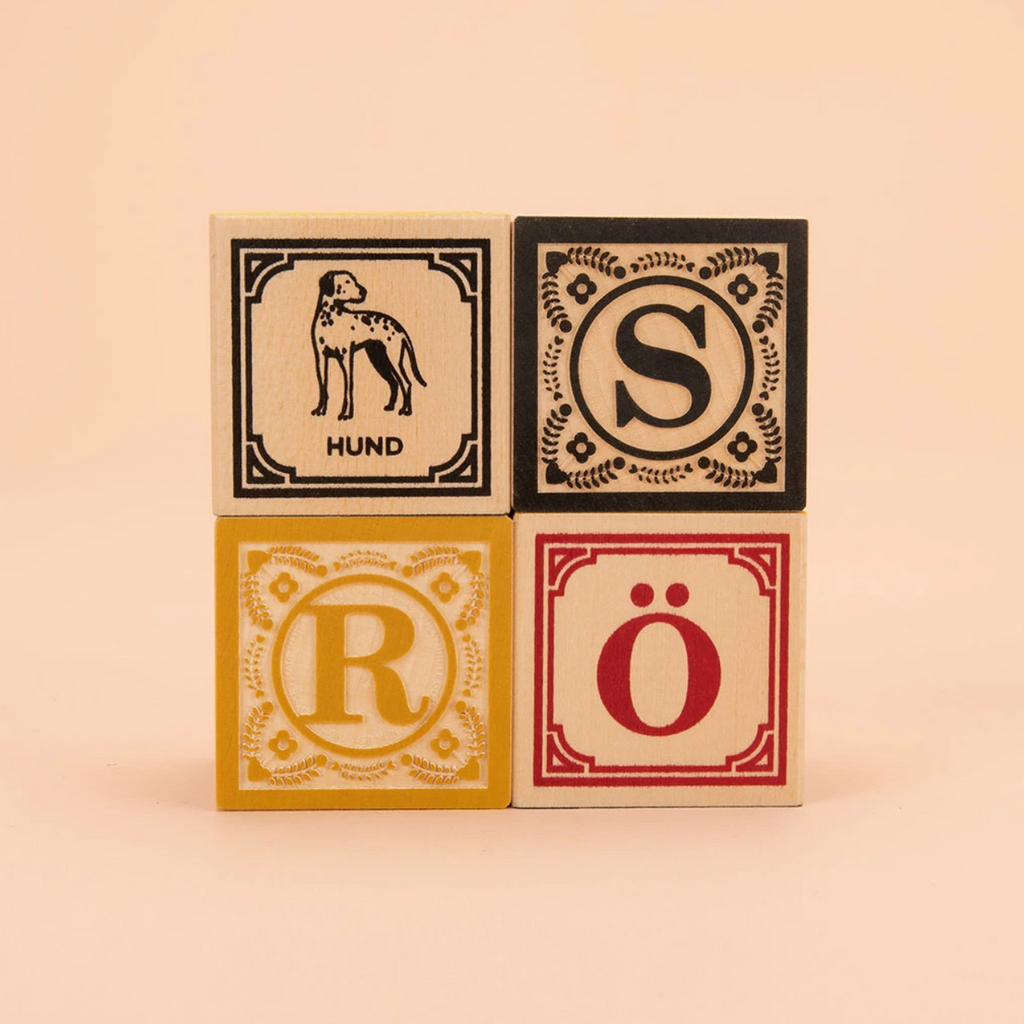 German Wooden ABC Blocks by Uncle Goose Uncle Goose Toys