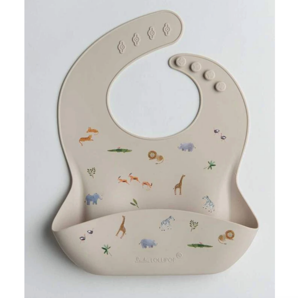 Silicone Bib - Safari by Loulou Lollipop